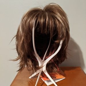Synthetic wig.